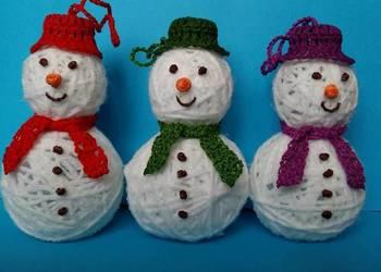 Bałwanki szydełkowe ozdoby świąteczne na szydełku