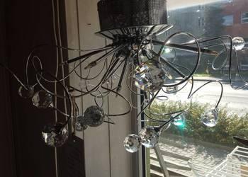 żyrandol kryształowy w komplecie żarówki LED 9 szt.