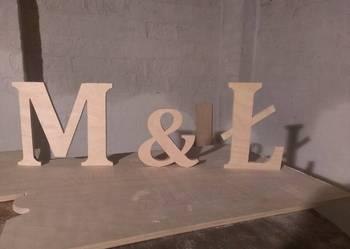 Ltery, litera, inicjały z drewna, dekoracja, dekor,wycinanka