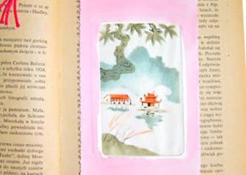 Zakładka do książki - malowana na jedwabiu nr 2