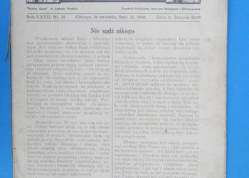 8. Gość Niedzielny - Rok Wydania 1948. - Bezpłatna wysyłka.
