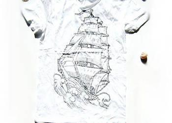 Koszulka rozmiar M, żagle koszulka, koszulka z żaglówką t-sh