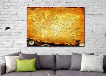 Stara mapa obraz na płótnie 80x60