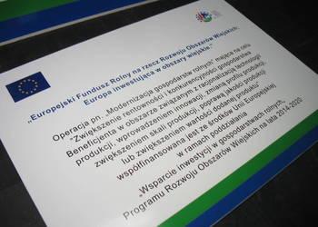 Tablica informacyjna PROW UNIJNA UE EU ARiMR TABLICE UNIJNE