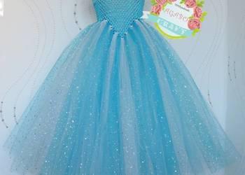 Suknia Elsa przebranie Frozen Kraina Lodu bal karnawał