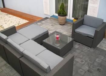 sofa fotel naroznik zestaw mebli technorattan