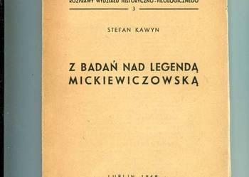 Z badań nad legendą Mickiewiczowską