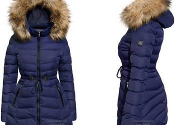 Kurtka Damska Zimowa Asymetryczna #109 GRANAT fashionavenue