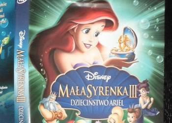 Mała Syrenka -bajka DVD,wszystkie 3 części +gratis, wysyłka