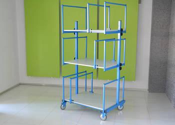 Wózek na kartony ( na wymiar ) + Regulacja wysokości półek