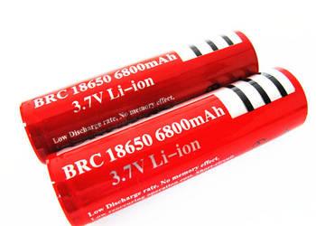 AKUMULATOR bateria 18650 Li-ion 3.7V 6800 mAh