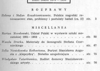 BIULETYN HISTORII SZTUKI - 1953 - NR 1 ROK XV