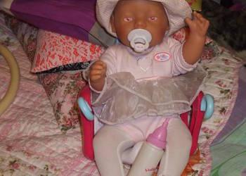 lalka baby corn z fotelikiem na rower, używany na sprzedaż  Łódź