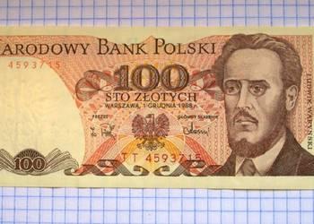BANKNOT - 100 ZŁOTYCH 1988 ROK - POLSKA ( L. WARYŃSKI )