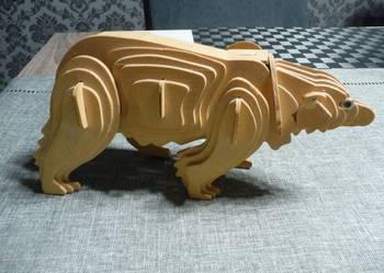Puzzle drewniane 3D niedźwiedź
