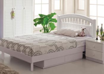 Łóżko 120x200 cm BIAŁE wyjątkowo solidne dla dziewczynki
