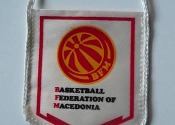 Proporczyk Macedońskiej Federacji Koszykówki mały (9x10 cm)
