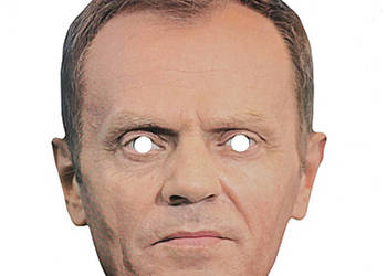 Maska papierowa Donald Tusk