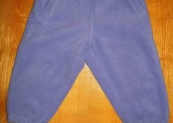 Ciepłe spodnie ocieplone z grubego polaru rozmiar 74 na zimę
