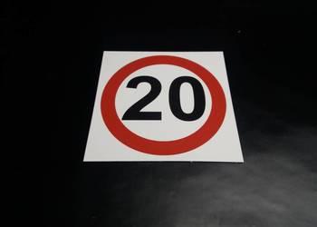 ZNAK OGRANICZENIE PRĘDKOŚCI 20 km/h