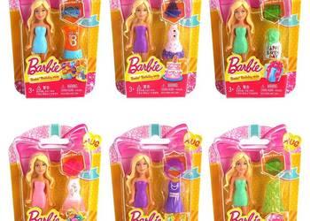 .Barbie Lalka Zestaw 3 Mini Lalek Laleczek Ubrankami Ubrania