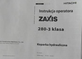 dtr instrukcja obsługi koparka hitachi ZX 280-3 i inne