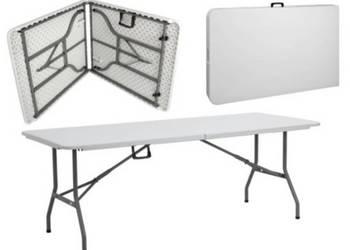 Wynajem stołów kateringowych - 180 cm na 75 cm
