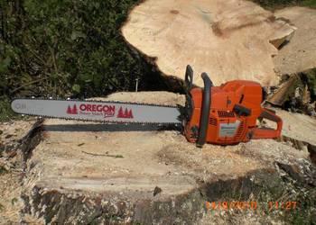 Cięcie drzew i drewna piłą spalinową