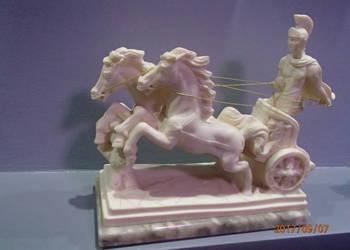 Rzymski Rydwan Piękna Marmurowa Figurka