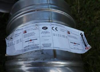 Kolano kominowe nastawne fi 125 kwasoodporne SPIROFLEX