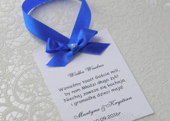 Zawieszki na alkohol na wódkę weselną weselne Ślubne Ślub