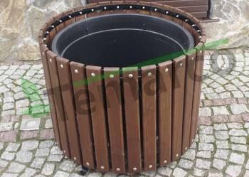 Donica drewniana okrągła doniczka doniczki donice  iglak XL