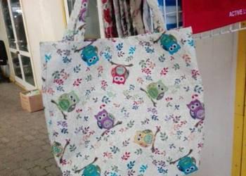 Torby na zakupy z grubej tkaniny gobelinowej