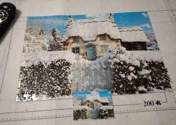 Puzzle Zimowy dom 300 KOMPLETNE (Puzzle bez pudełka)