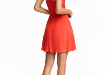 Sukienka letnia h&m xxs 32 xs 34 rozkloszowana