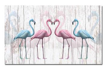 Obraz xxl FLAMING 5 - 120x70cm na płótnie flamingi