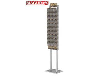 Prezenter składany stojak na ulotki + 10 kieszeni A4 poziomo