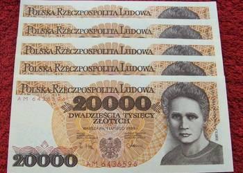 POLSKA PRL 20000 ZŁ MARIA CURIE-SKŁODOWSKA Banknot UNC 1 szt