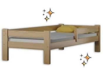 Łóżko pojedyńcze z barierką Zuzia 80x160 lub 80x180