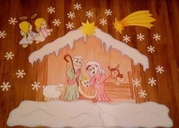 Szopka bożonarodzeniowa dekoracja do przedszkola