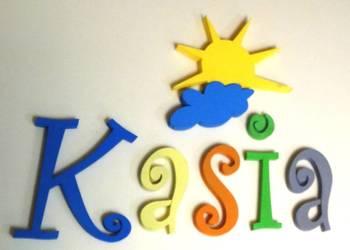 Samoprzylepna dekoracja 3d imię dziecka