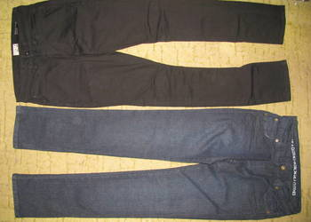 damskie spodnie levis wrangler granatowy cienki sztruks