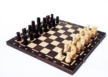 ORYGINALNE drewniane szachy ZAMKOWE 54x54 cm !