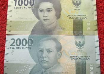 INDONEZJA (2) Kolekcjonerskie Banknoty Zestaw - 2 sztuki UNC