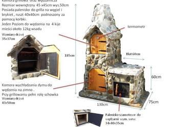 Grill Wędzarnia G2 gril ogrodowy Wędzok kamień naturalny