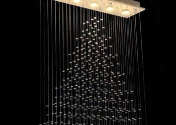 lampa kryształowa żyrandol kryształowy wiszący do salonu FV