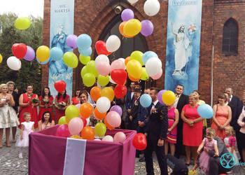 Balony z helem, ledy, bramy, pudło, na ślub i imprezy