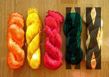 Włóczka przędza nici jedwab indie 120g 1000m tkactwo druty