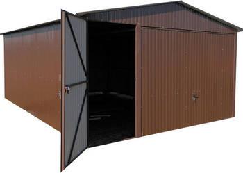 Garaże blaszane 4x6 brąz brama uchylna solidny garaż blaszak