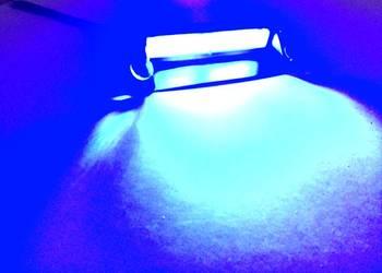 Stroboskop COB niebieski 12V na szybę NOWA